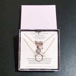 Luna Norte Druzy Quartz Necklace Set.